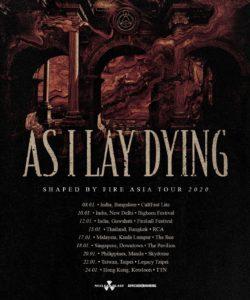 アメリカのヘヴィメタルバンド As I Lay Dying アジアツアー決定!来日公演は無し!