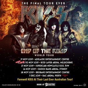 アメリカンバンド KISS ニュージランド公演の中止が決定