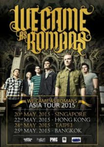 ライブレポート! We Came As Romans @ The Wall Taipei Taiwan