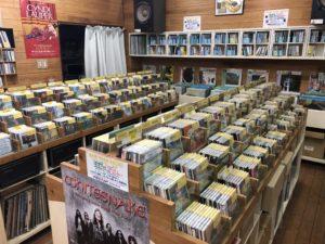 岡山県にあるCDショップ パワープラントレコーズ! ヘヴィメタルCDが充実していました!